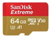 Sandisk Extreme micro SDHC 64GB + SD Adapter for Action Sports, muistikortti