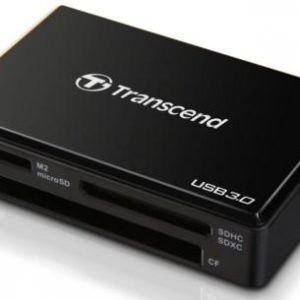 Transcend USB 3.0 Card Reader, musta